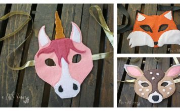 Felt Animal Masks Free Sewing Pattern