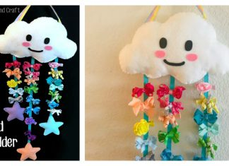 Felt Cloud Bow Holder Free Sewing Pattern