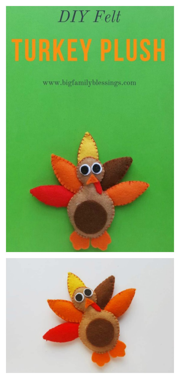 Felt Turkey Plush Free Sewing Pattern
