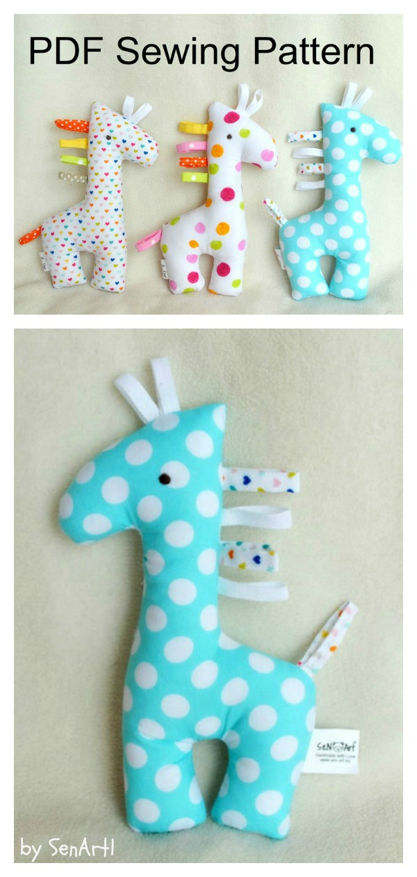 Giraffe Soft Toy Sewing Pattern