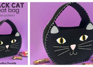Halloween Cat Treat Bag Free Sewing Pattern