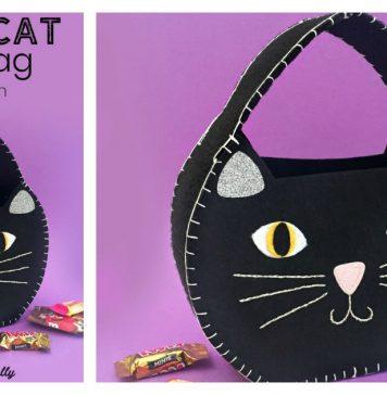 Halloween Cat Treat Bag Free Sewing Pattern