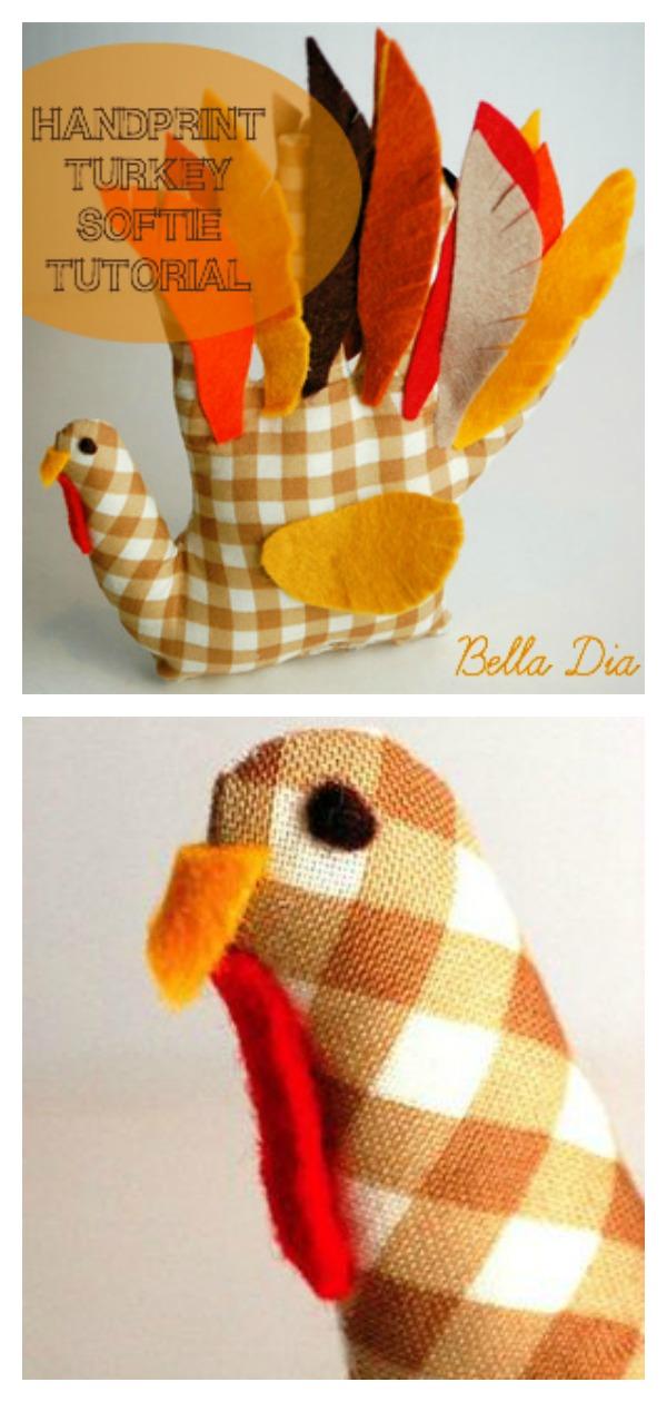 Handprint Turkey Softie Free Sewing Pattern