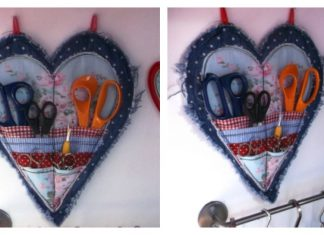 Heart-shaped Scissor Keeper Tutorial