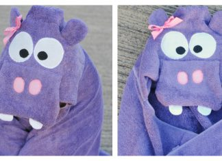 Hippo Hooded Towel Free Sewing Pattern