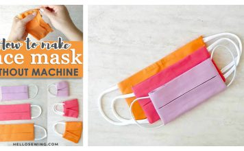 How to Make Face Mask without Sewing Machine