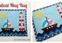 Nautical Mug Rug Free Sewing Pattern