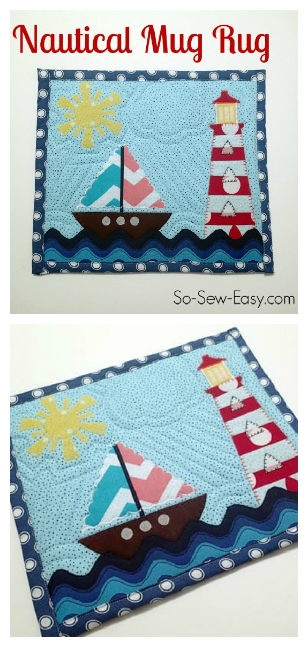 Nautical Mug Rug Free Sewing Pattern