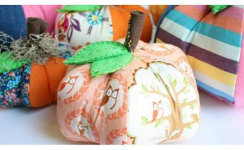 Patchwork Pumpkins Softie Free Sewing Pattern