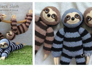 Sock Sloth Free Sewing Pattern