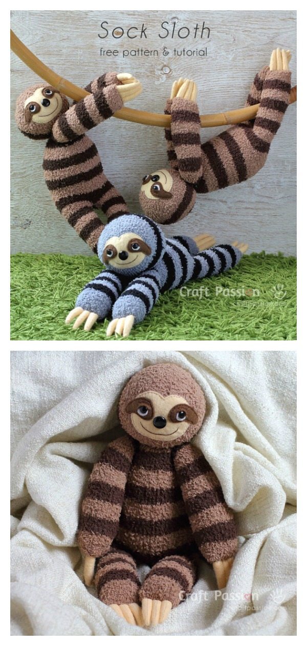 Sock Sloth Free Sewing Pattern