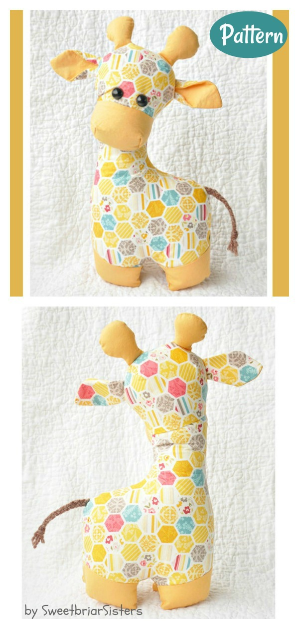 Stuffed Animal Giraffe Toy Sewing Pattern