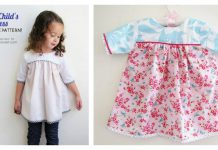 Sweet Child's Dress Free Sewing Pattern
