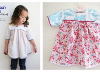 Sweet Child's Dress Free Sewing Pattern