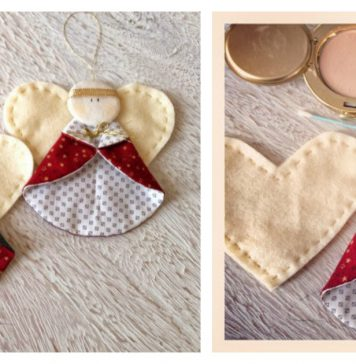 Christmas Angel Ornament Free Sewing Pattern
