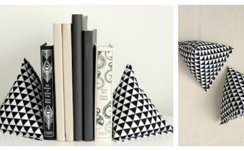 Fabric Pyramid Bookends Free Sewing Pattern