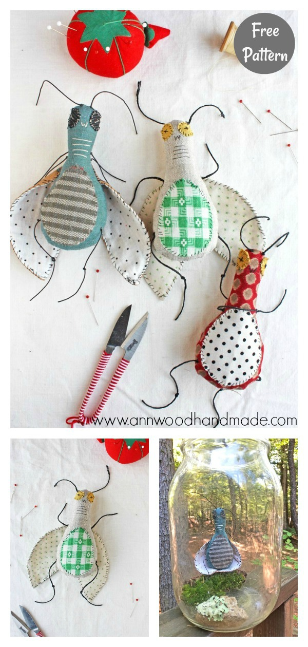 Silly Bug Doll Free Sewing Pattern