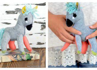 Stuffed Donkey Plush Free Sewing Pattern