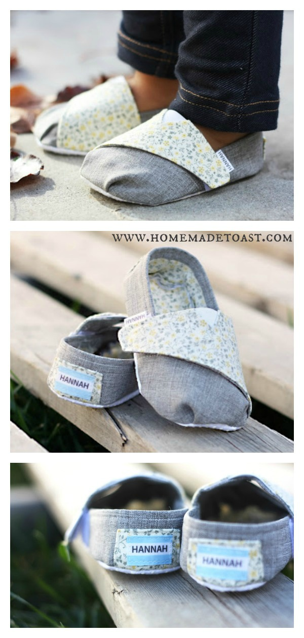Toms Inspired Baby Shoes Free Sewing Pattern
