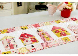 Vintage Daydream Neighborhood Table Runner Free Sewing Pattern