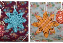 Woven Fabric Star Ornament Free Sewing Pattern and Video Tutorial