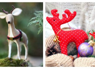 Adorable Christmas Reindeer Sewing Patterns
