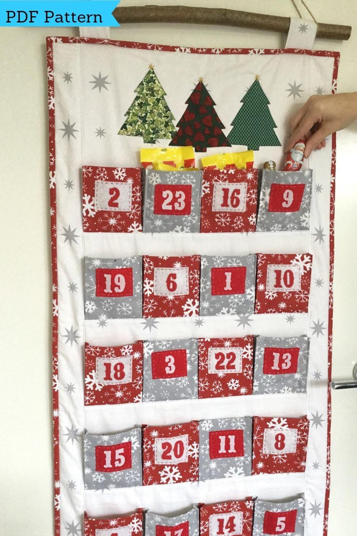 Big Pocket Family Advent Calendar Sewing Pattern