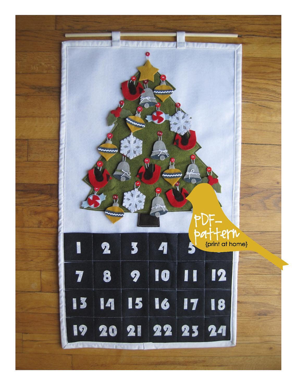 Christmas Advent Calendar Sewing Pattern