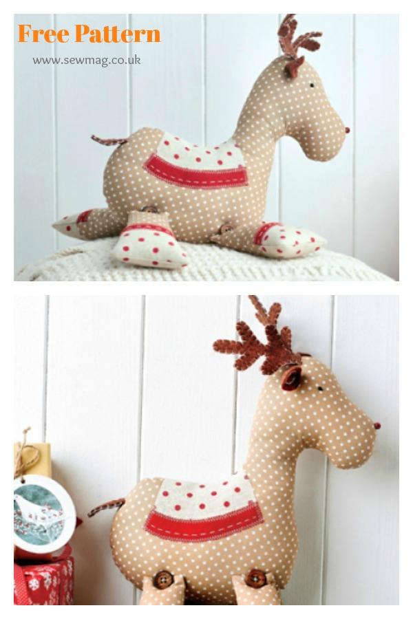 Christmas Roger Reindeer Free Sewing Pattern