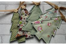 Christmas Tree Bunting Garland Free Sewing Pattern