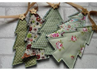 Christmas Tree Bunting Garland Free Sewing Pattern