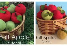 Felt Apple Free Sewing Pattern