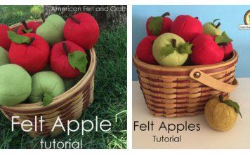 Felt Apple Free Sewing Pattern