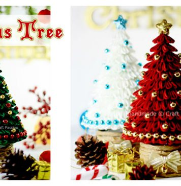 Kanzashi Christmas Tree Free Sewing Pattern