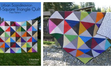Modern Half-Square-Triangles Quilt Free Sewing Pattern
