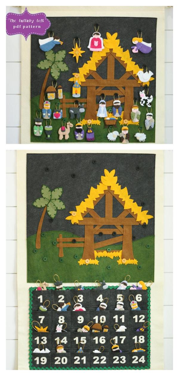 Nativity Advent Calendar Sewing Pattern
