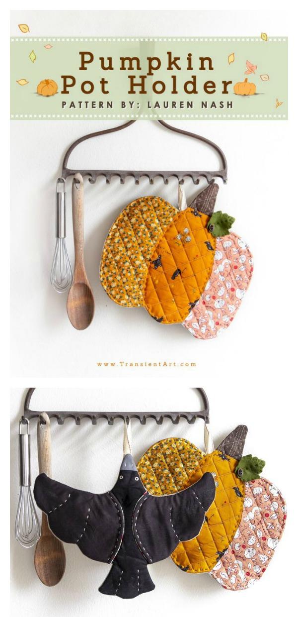 Pumpkin Pot Holder Sewing Pattern
