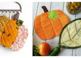 Pumpkin Potholders Free Sewing Pattern and Paid