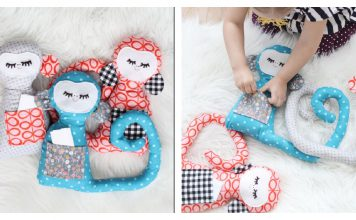 Secret Notes Stuffed Monkey Free Sewing Pattern