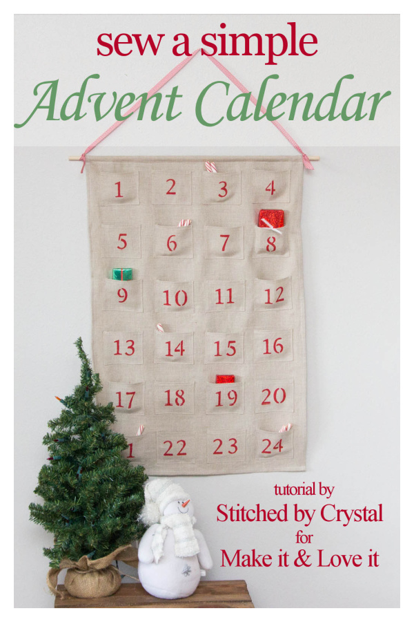 Simple Advent Calendar Free Sewing Pattern