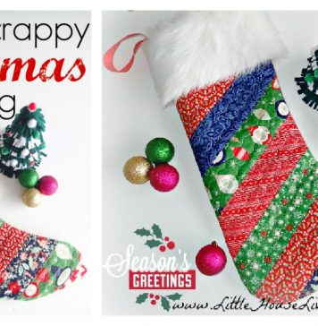 Simple Quilted Christmas Stocking Free Sewing Pattern