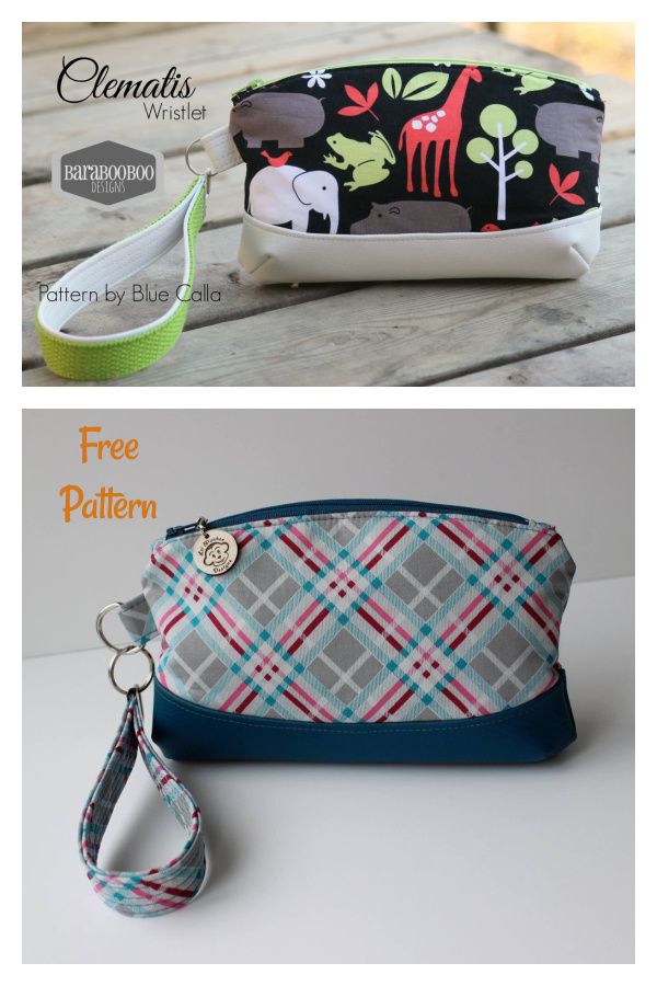 The Clematis Wristlet Free Sewing Pattern
