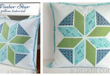 Winter Star Pillow Free Sewing Pattern