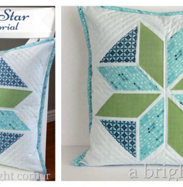 Winter Star Pillow Free Sewing Pattern