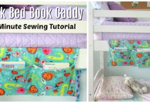 Bunk Bed Book Caddy Free Sewing Pattern and Video Tutorial