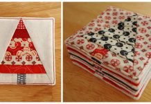 Christmas Tree Coasters Free Sewing Pattern