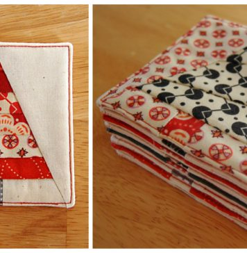 Christmas Tree Coasters Free Sewing Pattern