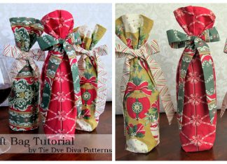 Christmas Wine Bag Free Sewing Pattern