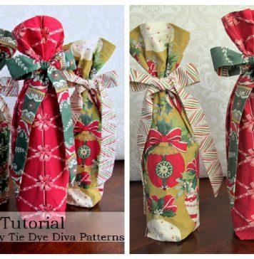 Christmas Wine Bag Free Sewing Pattern
