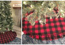Easy Fleece Christmas Tree Skirt Free Sewing Pattern
